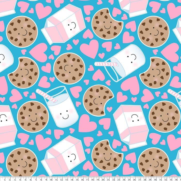 Milk and cookies blanket